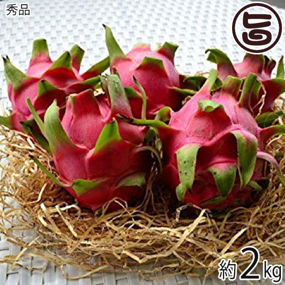 秀品 沖縄産 ピタヤ レッドドラゴンフルーツ 約2kg 送料無料 沖縄 フルーツ お土産