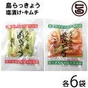 沖縄県産 島らっきょう 塩漬け キムチ 各50g 各6袋 おすすめ イチオシ おつまみ 送料無料