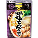 ミツカン 〆まで美味しい 地鶏塩ちゃんこ鍋つゆストレートタイプ750g(3〜4人前)×1袋
