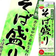 合同 そば焼酎 そば盛り 25度1.8Lパック×1ケース(全6本)