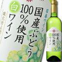 マンズワイン 国産ぶどう100%使用白ワイン 酸化防止剤無添加 720mlペット×1ケース(全12本)