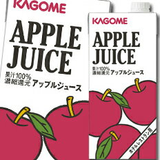 【送料無料】カゴメ アップルジュースホテルレストラン用1L紙パック×1ケース(全6本)