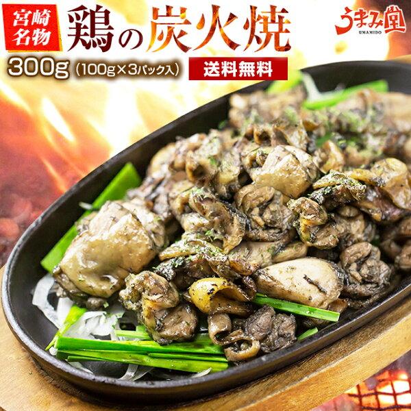 消化おつまみ鶏の炭火焼き(親鶏)100g×3パックメール便塩こしょう風味宮崎名物焼き鳥鳥の炭火焼き鳥の炭火焼セット食品お試し人気