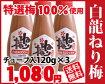 □【紀州南高梅】ちょっと便利な梅味の素チョットひとねり梅びしお【簡単ナイロン袋入り】120gチューブ入り×3本【02P01Oct16】
