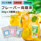 【お試し】フレーバー烏龍茶3種類のお茶の詰め合わせ(30g×3種入)54杯分買い回り飲み比べお茶ギフトメール便送料無料