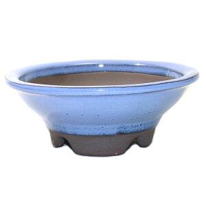 وعاء بونساي رقم 5 Marujin الظل وعاء فرن أزرق فاتح موحدة Yokkaichi Manko Ware شحن مجاني