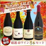 【スプリングセール】厳選赤ワイン4本セット