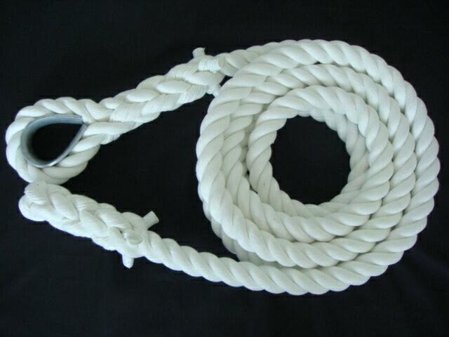 トレーニングロープ/ターザンロープ/登り綱/送料無料/クレモナ製ターザンロープ(登り綱) 36mm×7M コース入 ターザンロープ/登り綱トレーニング用ロープに最適♪アスレチックロープとしても大活躍♪