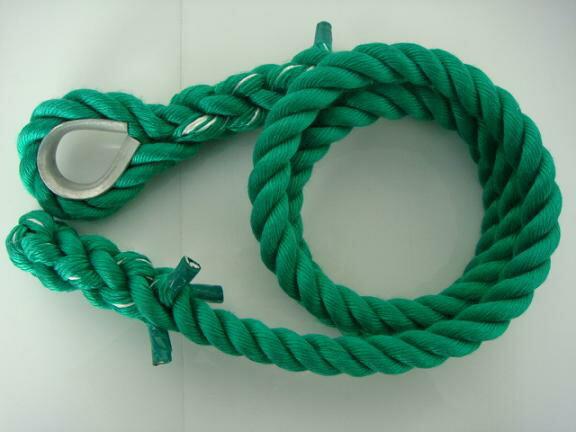 トレーニングロープ/カラーロープ/ターザンロープ/登り綱/リプロン製ターザンロープ(登り綱) 緑 24mm×6M コース入り ターザンロープ/登り綱トレーニング用ロープに最適♪アスレチックロープとしても大活躍♪