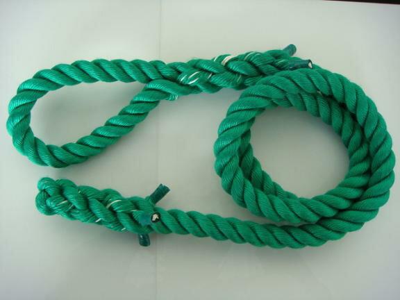 トレーニングロープ/カラーロープ/ターザンロープ/登り綱/送料無料/リプロン製ターザンロープ(登り綱) 緑 30mm×7M 10000258 ターザンロープ/登り綱トレーニング用ロープに最適♪アスレチックロープとしても大活躍♪