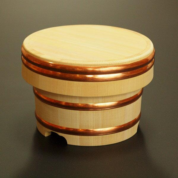 【送料無料】木製おひつ-木曽さわらの厚口江戸びつ 5合