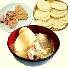 送料込み!青森地鶏シャモロックの生肉とつみれから出る濃厚なダシが煎餅にしみこんで美味しい...