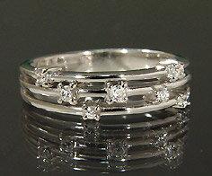 K18 ダイヤモンド リング指輪 18K 18金 ゴールド ダイアモンド 誕生日 4月誕生石 刻印 文字入れ ピンキーリング メッセージ ギフト 贈り物:アム(ジュエリー好きが集まる店)