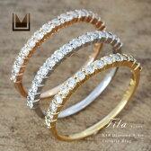 K18 ダイヤモンド 0.3ct エタニティ リング 「fila」ピンキーリング 送料無料 指輪 ダイアモンド エタニティー ファランジリング 18K 18金 ゴールド 4月誕生石