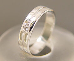 ダイヤモンド マリッジリング 「Flat」 PT900(レディース:1〜20号)ダイアモンド ペアリング プラチナ900 結婚指輪 ギフト包装 刻印無料:アム(ジュエリー好きが集まる店)