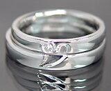K18WG Lady''s & Men''s ペアリング(結婚指輪) (MS0060)