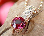 ルベライト ダイヤモンド ペンダント ネックレス ピンクトルマリン ダイアモンド ゴールド メッセージ
