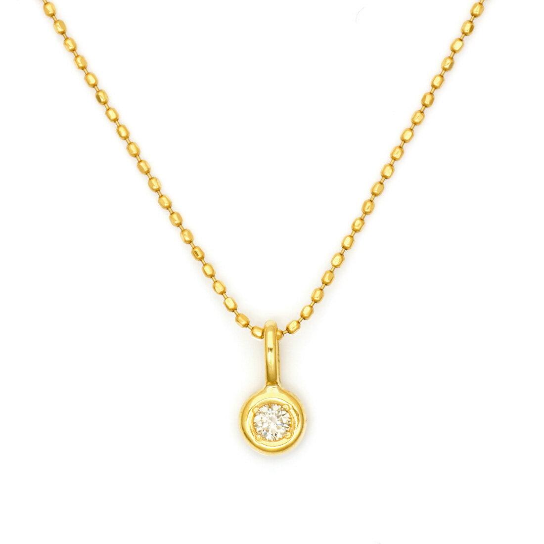 K18 ダイヤモンド 0.05ct ペンダントトップ 「piccolo」 ネックレス ダイアモンド 誕生日 4月誕生石 18K 18金 ゴールド 記念日 メッセージ ギフト 贈り物