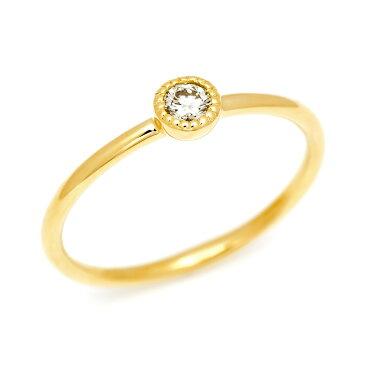 K18 ダイヤモンド 0.1ct リング 「pupo」 指輪 ダイアモンド ゴールド 18K 18金 ミル打ち マット サティーナ 艶消し 誕生日 4月誕生石 刻印 文字入れ メッセージ ギフト 贈り物 ピンキーリング対応可能
