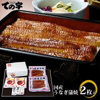 国産うなぎ赤羽門(あかばねもん)手焼き炭火蒲焼100g×2尾ギフトセット