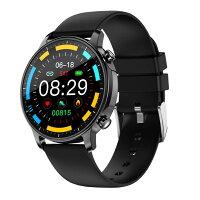 クーポン利用で50%OFF 2020年最新 スマートウォッチ 体温測定 メンズ レディース 体温 血圧 血中酸素 心拍 睡眠測定 iphone Android LINE通知 日本語 防水 腕時計