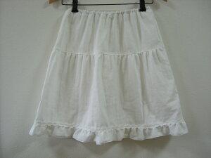 *【キッズ女児】綿ローンペチコート(フリル)(100cm〜160cm)