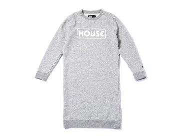 IN THE HOUSE GIRLS LOGO SWEAT ONEPIECE(ith-0038)【インザハウス】【キッズ】【ワンピース】