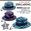 新作BILLABONGビラボンサーフハット総柄メンズLOGOロゴハットサーフィン帽子海ストラップ付【送料無料】