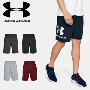 ☆ネコポス アンダーアーマー UNDER ARMOUR ハーフパンツ UAスポーツスタイル コットングラフィックショーツ ( トレーニング トレーニングウェア フィットネス ショートパンツ メンズ 1329300 あす楽対応可