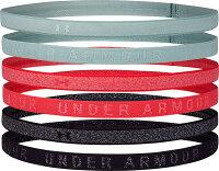 公式 アンダーアーマー UNDER ARMOUR UAヘザー ミニヘッドバンド 6個セット トレーニング レディース 1311044