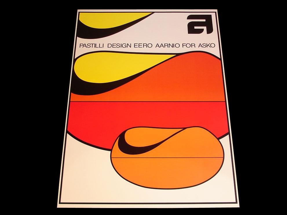 SALE UNDERGROUND オリジナルポスターNo.0001 Eero Aarnio/エーロ・アールニオ Pastil Chair/パスティリチェア 絵画 アート/art パネル フレーム スペースエイジデザイン【新品】