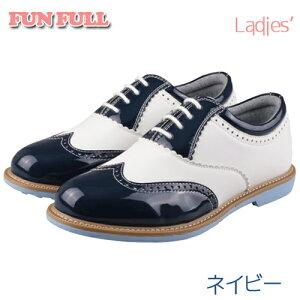 FunFull【ファンフル】スパイクレスレディースゴルフシューズFUN200【ネイビー】