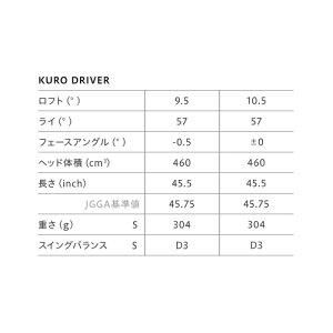 ONOFF【オノフ】ドライバーKURO2019LABOSPECSHINARI:50Kカーボンシャフト【グローブライド】GLOBERIDE
