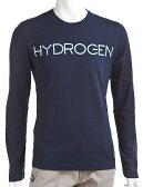 ハイドロゲン HYDROGEN ハイドロゲン ロングTシャツ ロンT 長袖 丸首 メンズ 140617 ネイビー 送料無料 楽ギフ_包装 アウトレット HYD大量入荷