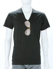 ルシアンペラフィネ lucien pellat-finet Tシャツ 半袖 Vネック メンズ EVH1662 ブラック 送料...