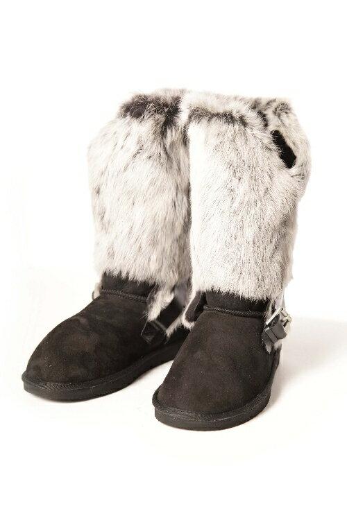 ペジアブーツ PEGIA BOOTS ブーツ ムートンブーツ レディース 101085 ブラック:アンダーウェア