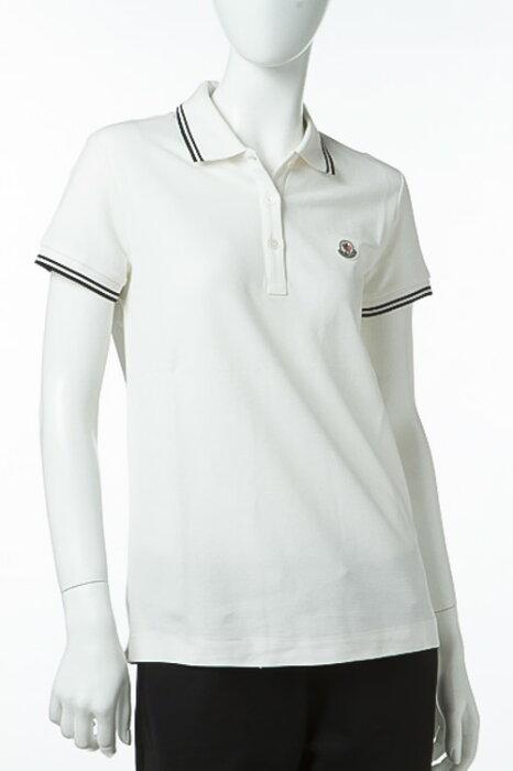 モンクレール MONCLER ポロシャツ 半袖 レディース 8350900 84667 アイボリー 送料無料 楽ギフ_包装