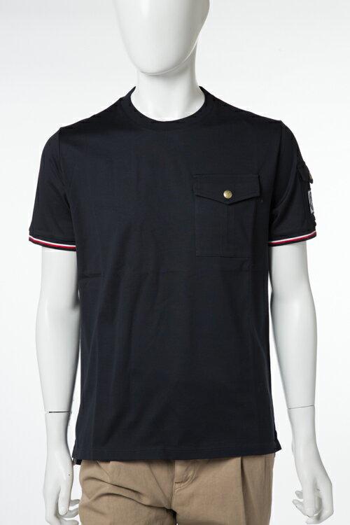 2017年春夏新作 モンクレールガムブルー MONCLER GB Tシャツ 半袖 丸首 メンズ 8007300 829AA ネイビー楽ギフ_包装 2017SS_SALE:アンダーウェア