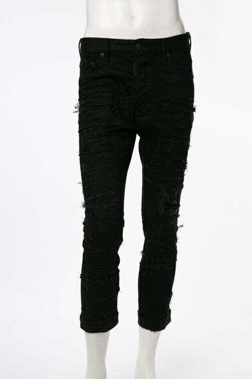 2017年春夏新作 ディースクエアード DSQUARED2 ジーンズパンツ ブラックデニム ジーパン GLAM HEAD JEAN メンズ S71LB0301S30564 ブラック楽ギフ_包装 2017SS_SALE:アンダーウェア