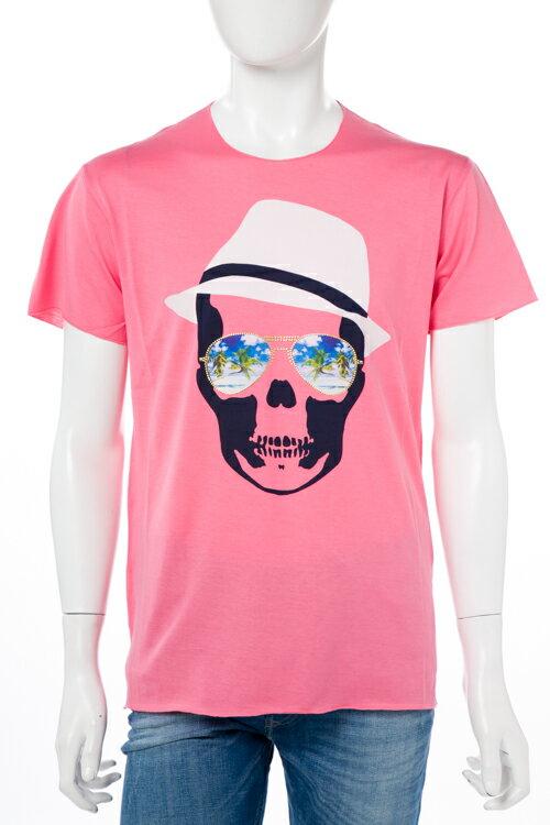 2017年春夏新作 ルシアンペラフィネ lucien pellat-finet ペラフィネ Tシャツ 半袖 丸首 メンズ EVH1898 ピンク楽ギフ_包装 2017SS_SALE:アンダーウェア