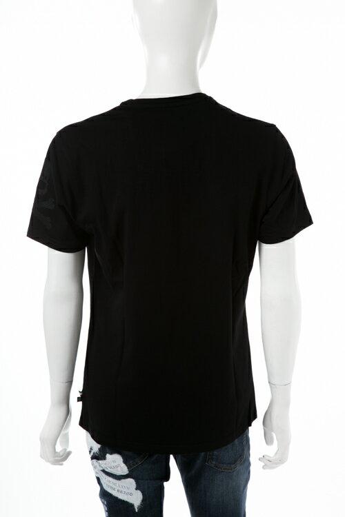 フィリッププレイン PHILIPP PLEIN Tシャツ 半袖 丸首 メンズ F17C MTK0981 ブラック×ブラック  楽ギフ_包装 2017AW_SALE 【ラッキーシール対応】