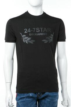 ディースクエアード DSQUARED2 Tシャツ 半袖 丸首 メンズ S74GD0232S22427 ブラック 送料無料 楽ギフ_包装