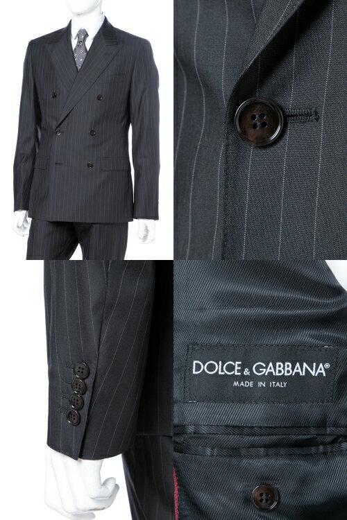 ドルチェ&ガッバーナ ドルガバ DOLCE&GABBANA 2ピーススーツ ダブル SICILIA メンズ G1TLCT FR3DO ダークグレイ  【ラッキーシール対応】