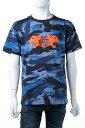 【お買い物マラソン 全品ポイント10倍】ディーゼル DIESEL Tシャツ 半袖 丸首 クルーネック T-WALLACE-SI T-SHIRT メンズ 00SCRC 0AASJ ブルー迷彩 送料無料 楽ギフ_包装 【ラッキーシール対応】