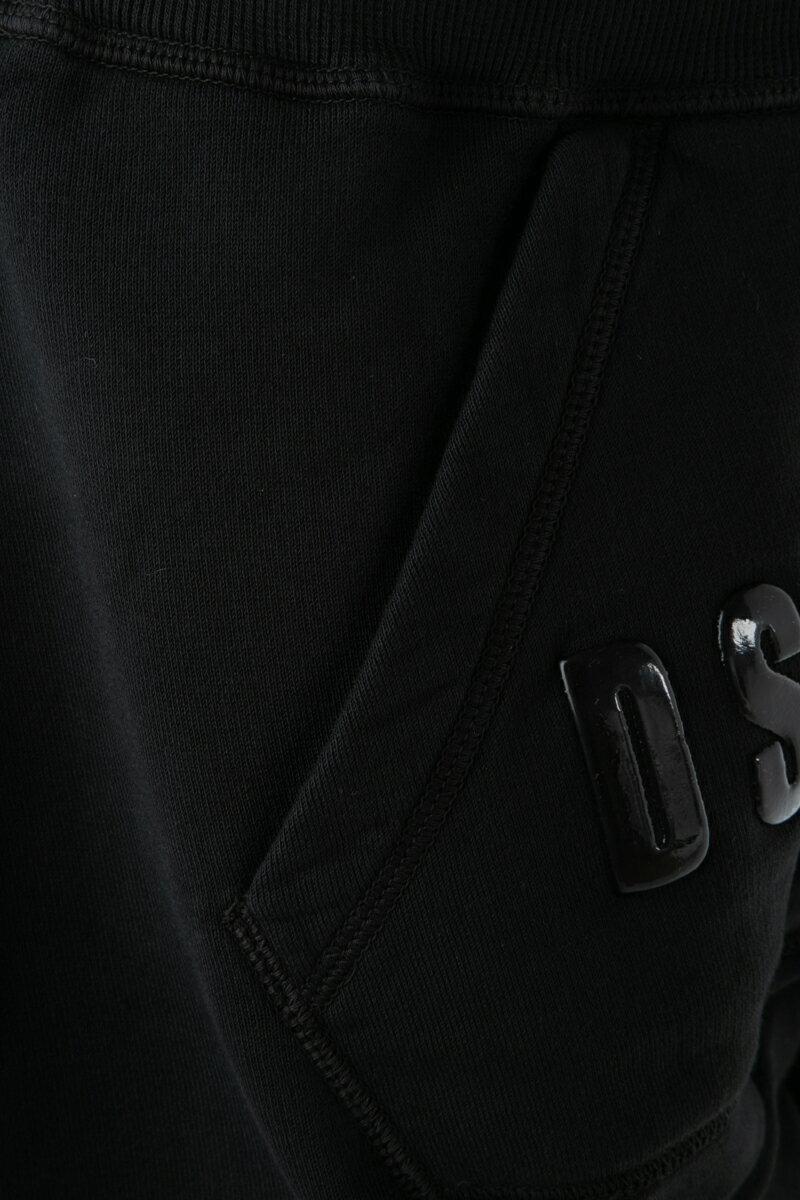 ディースクエアード DSQUARED2 ショートパンツ スウェットショートパンツ ハーフパンツ メンズ S74MU0524S25030 ブラック  楽ギフ_包装 2019年春夏新作 【ラッキーシール対応】 2019SS_SALE