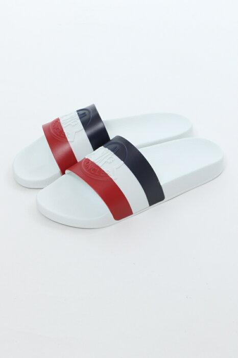 モンクレール MONCLER サンダル シャワーサンダル 靴 BASILE 002 メンズ 4C70000 01A49 ホワイト 送料無料 楽ギフ_包装