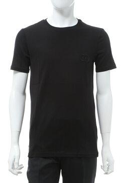 クリスチャンディオール Christian Dior Tシャツ 半袖 丸首 クルーネック メンズ 013J600A0589 ブラック 送料無料 楽ギフ_包装 2020年春夏新作