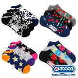 OUTDOOR PRODUCTS アウトドアプロダクツスニーカー用ソックス-靴下12足セット メンズ 福袋 送料無料
