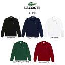 LACOSTE(ラコステ)ポロシャツ クラシックフィット 長袖 鹿の子 テニス ゴルフ メンズ 男性用 L1312