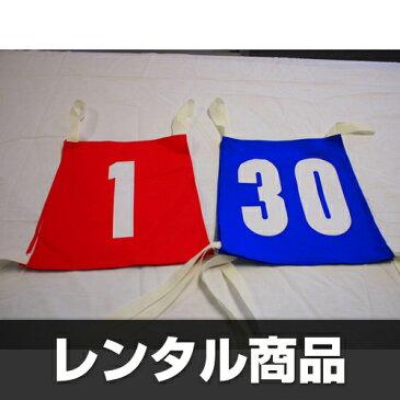 【レンタル】カラーゼッケン(ナンバー入り1〜30)1枚当たり